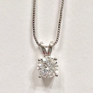Jewelry - CZ Diamond Solitaire Necklace